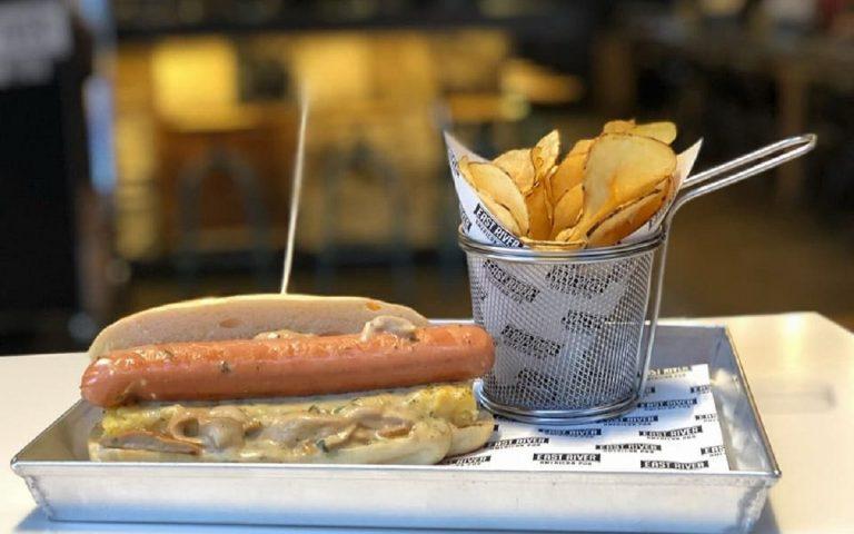 hot dog milano East River American Pub