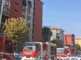 Incendio palazzina Milano
