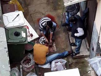 Macelleria abusiva a Milano: carne tagliata per terra tra sangue e rifiuti