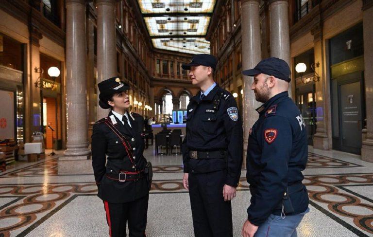 poliziotti cinesi milano