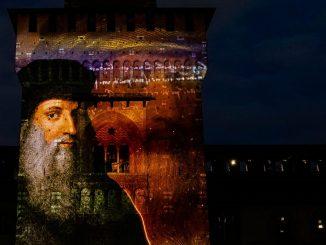 Spettacolo di luci e suoni al Castello Sforzesco per celebrare Leonardo Da Vinci