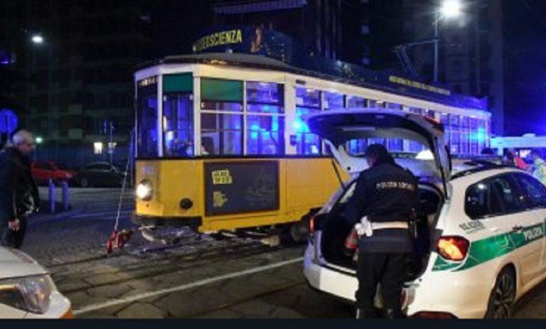 incidente tram milano