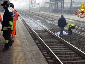 travolto e ucciso treno