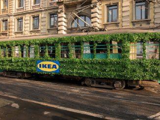A Milano arriva il tram per celebrare la primavera: l'idea di Ikea