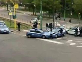 scontro volanti polizia