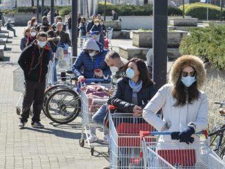 coronavirus lite supermercato