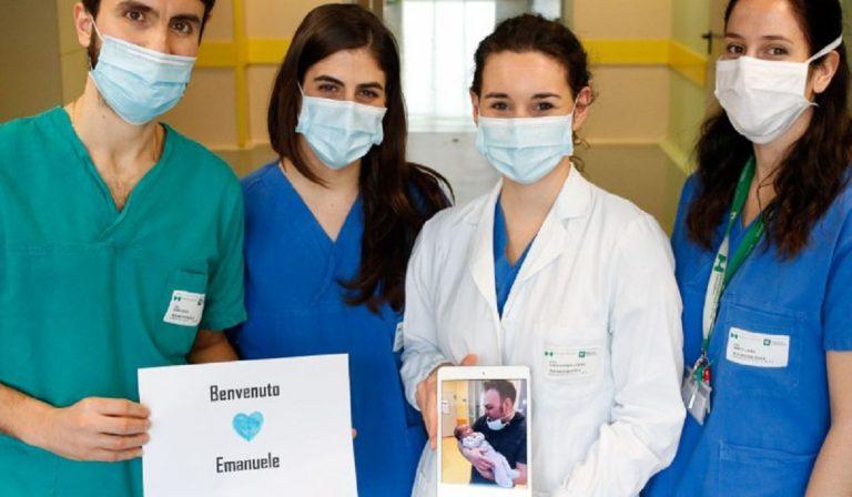 Coronavirus, Carlo diventa papà al Niguarda