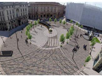 Rendering della futura Piazza Cordusio