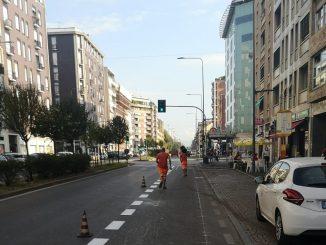 Ciclabile viale Monza Piscina