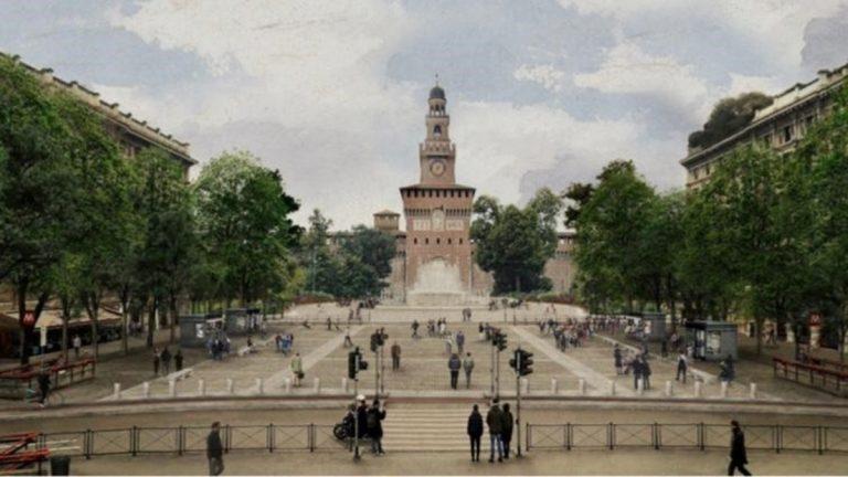 riqualificazione piazza castello milano