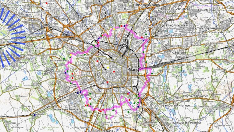 80km intorno a Milano, ecco la mappa di AbbracciaMi
