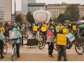 Sciopero riders Milano