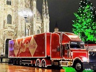 coca cola camion milano