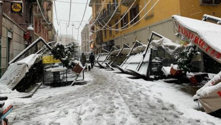 milano negozi neve