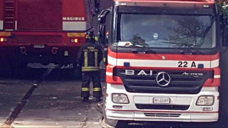 Incendio in Viale Jenner: intervento dei vigili del fuoco