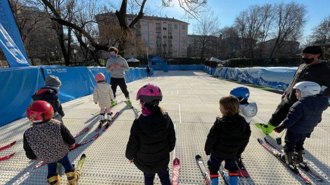 ski in the city
