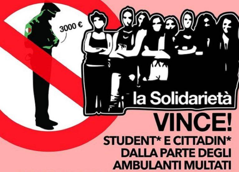 ambulanti multati università raccolta fondi