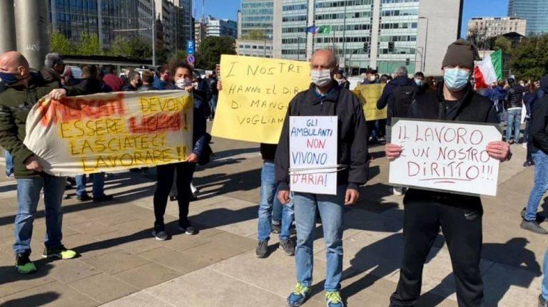 protesta ambulanti milano