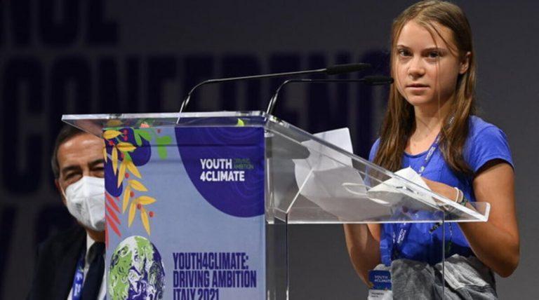 Greta Thunberg alla conferenza Youth4Climate.