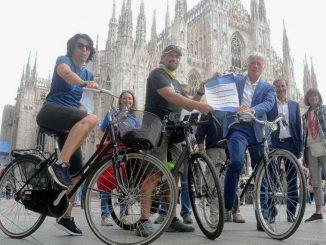 Daniele Tonani, Milano-Roma in bici